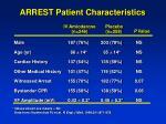arrest patient characteristics