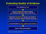 evaluating quality of evidence