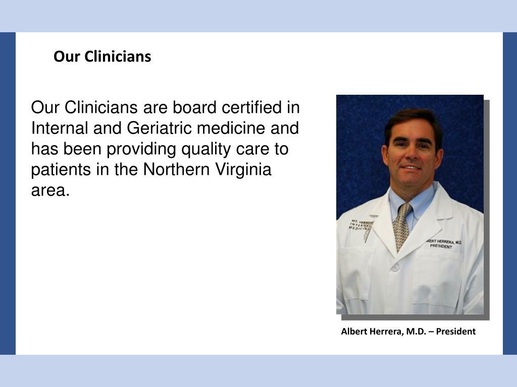 Our Clinicians