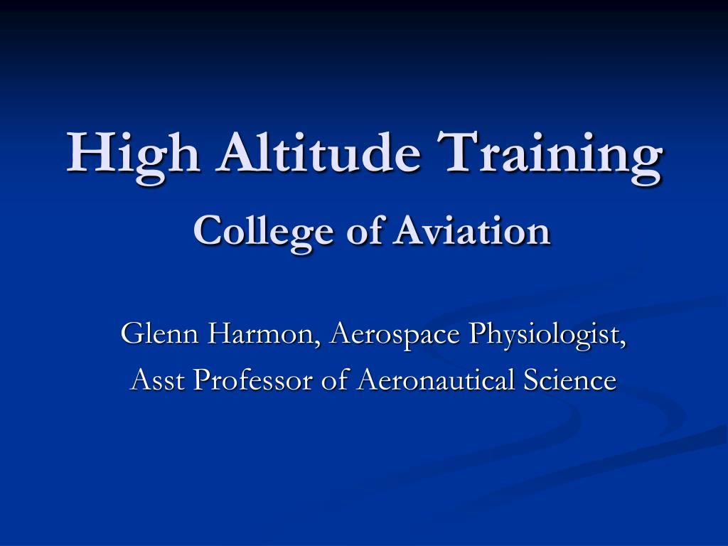 high altitude training college of aviation l.