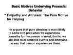 basic motives underlying prosocial behavior14