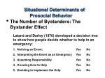 situational determinants of prosocial behavior36