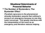 situational determinants of prosocial behavior41