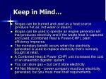 keep in mind