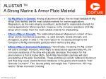 alustar tm a strong marine armor plate material