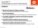 alustar tm a strong marine armor plate material24