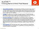 alustar tm a strong marine armor plate material5