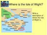 where is the isle of wight