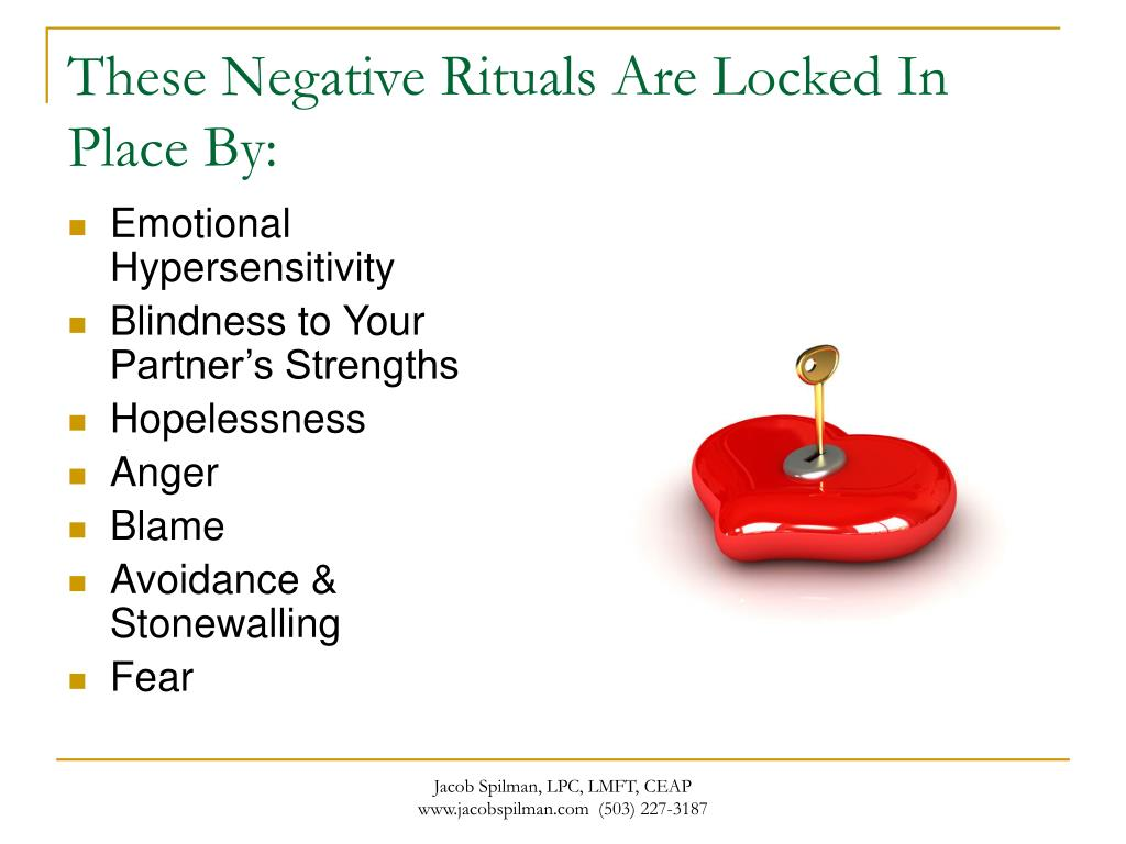 These Negative Rituals Are Locked In Place By: