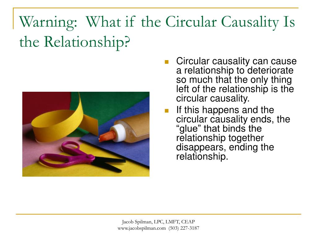 Warning:  What if the Circular Causality Is the Relationship?