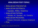 analgesia post torac