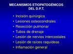 mecanismos etiopatog nicos del d p t
