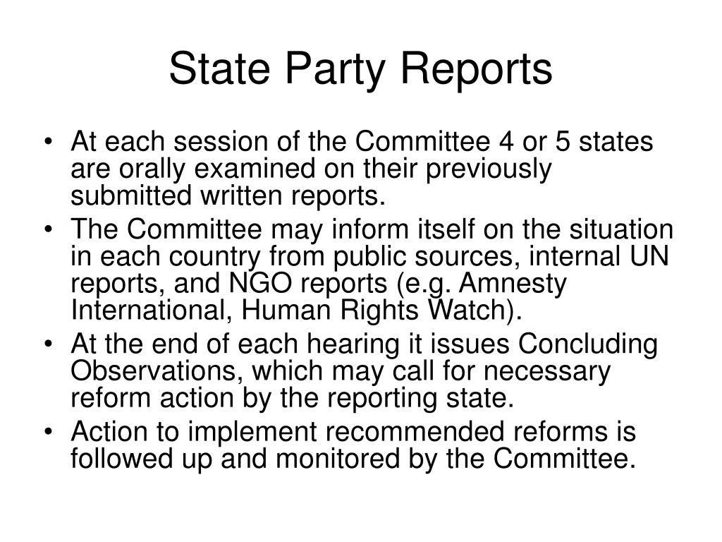 State Party Reports