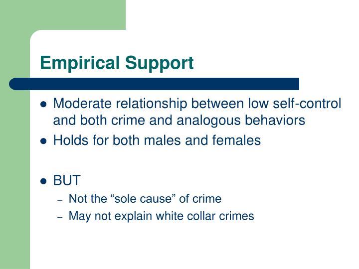 Empirical Support