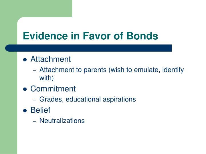 Evidence in Favor of Bonds