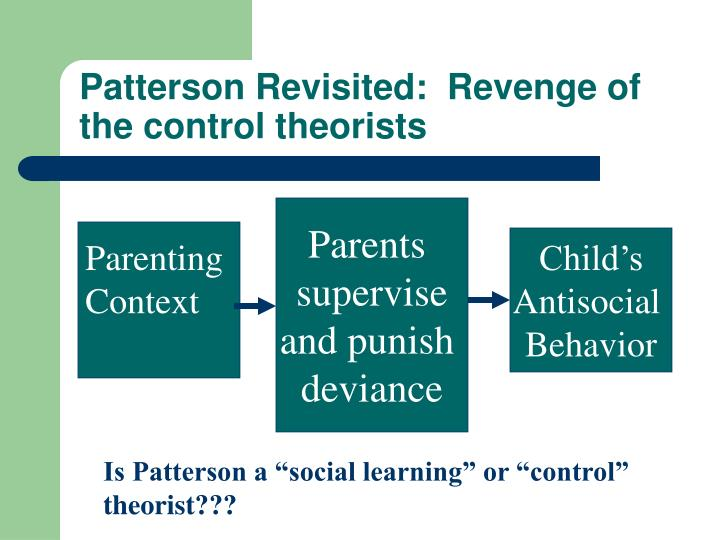 Patterson Revisited:  Revenge of the control theorists