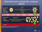 absorption sous cutan e des analogues rapides