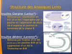 structure des analogues lents
