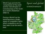 sport and global consciousness