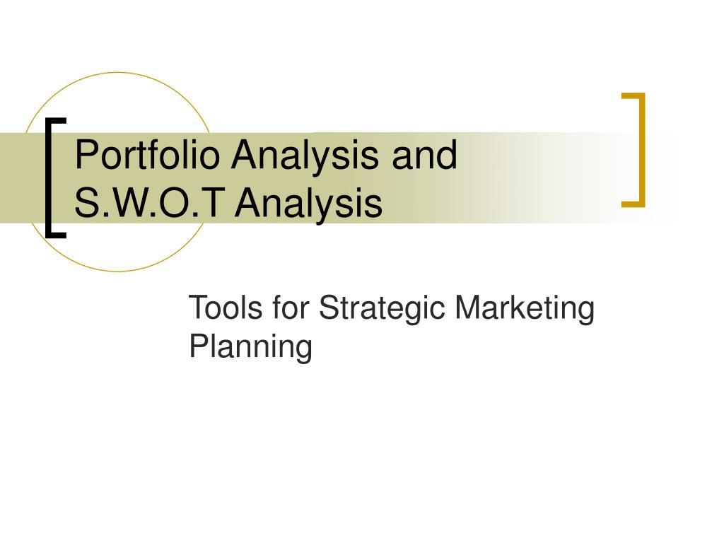 portfolio analysis and s w o t analysis