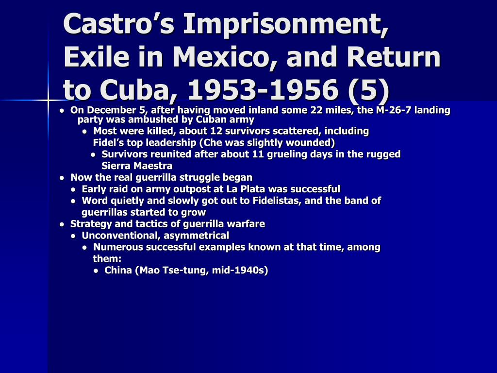 Castro's Imprisonment, Exile in Mexico, and Return to Cuba, 1953-1956 (5)