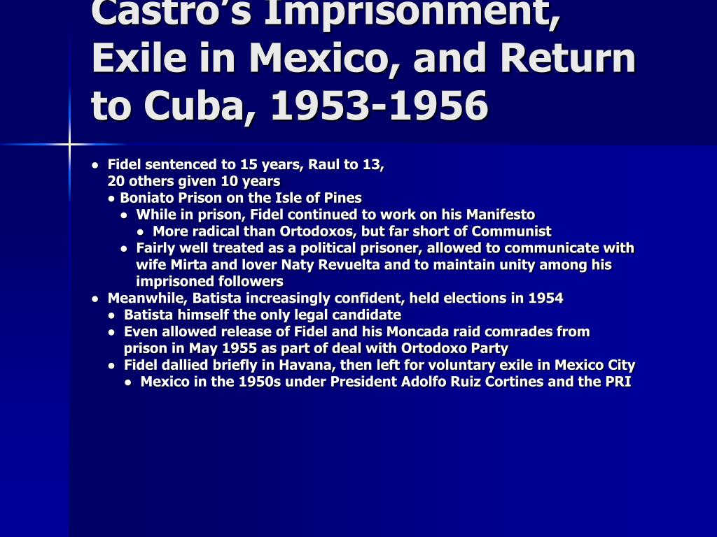 Castro's Imprisonment, Exile in Mexico, and Return to Cuba, 1953-1956