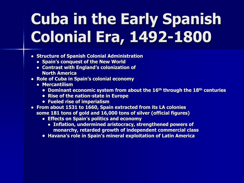 Cuba in the Early Spanish Colonial Era, 1492-1800