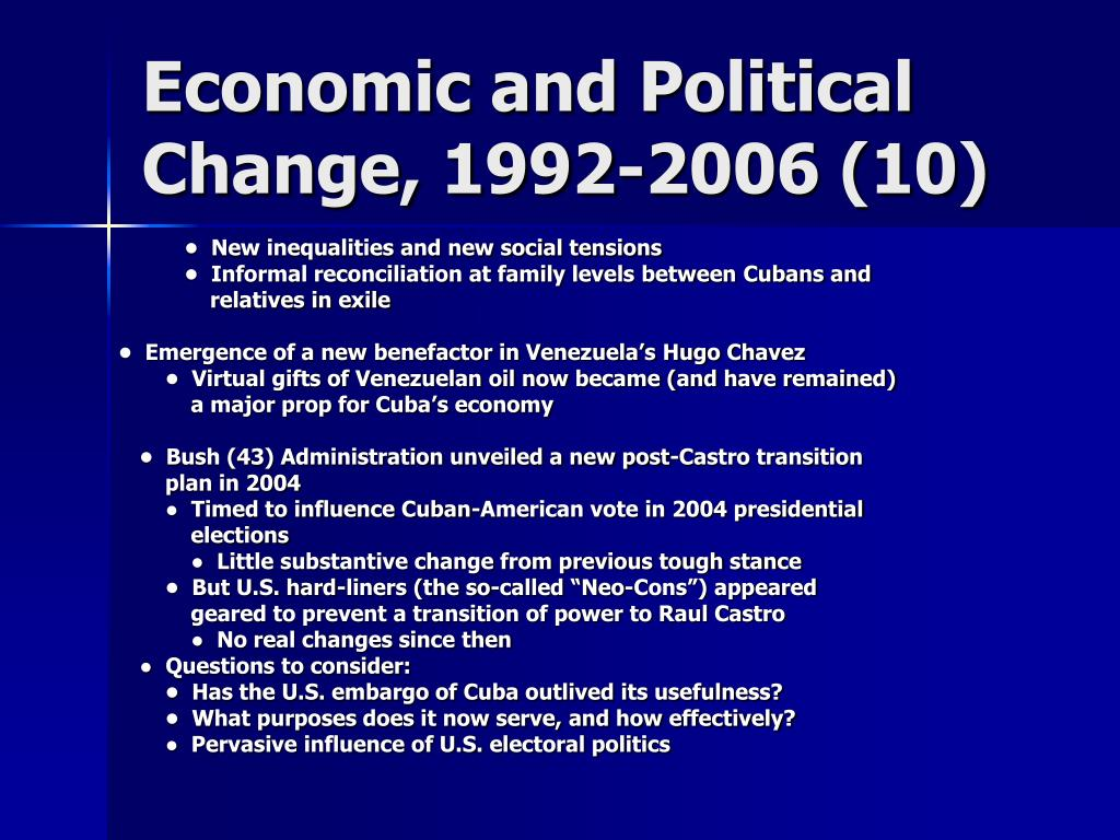 Economic and Political Change, 1992-2006 (10)