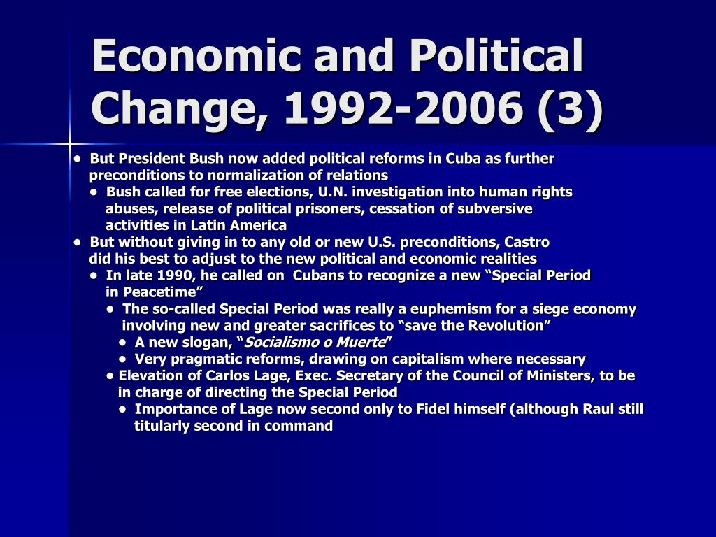 Economic and Political Change, 1992-2006 (3)