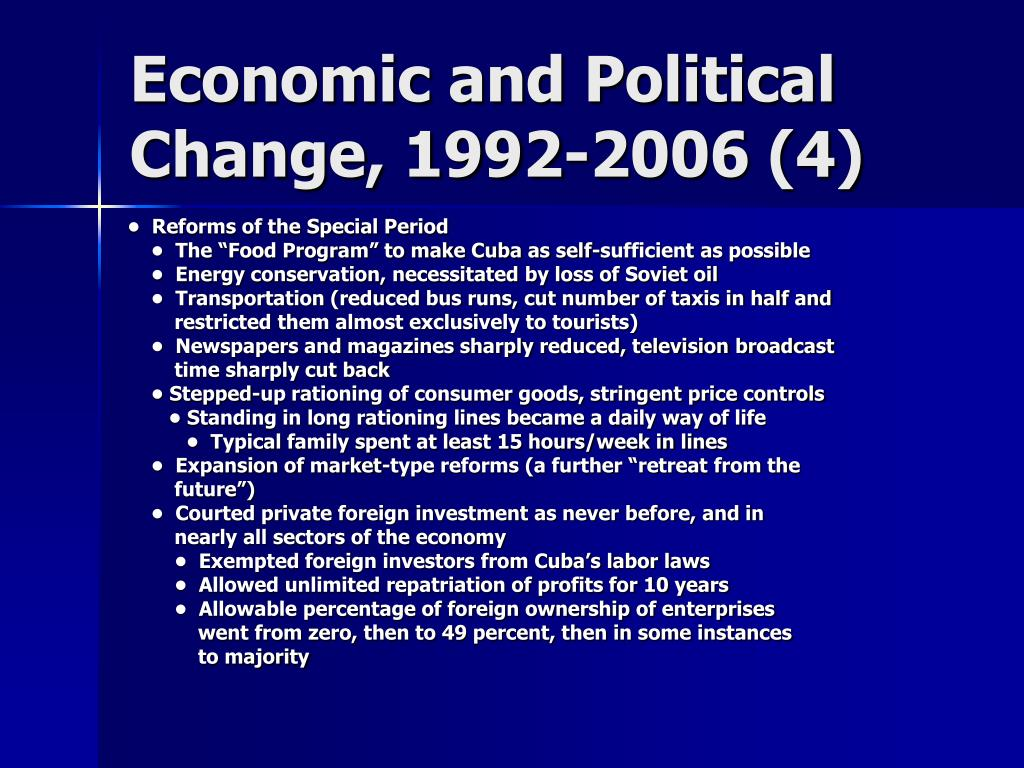 Economic and Political Change, 1992-2006 (4)