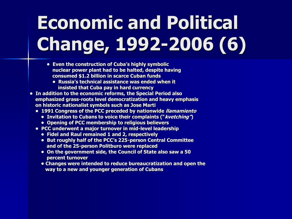 Economic and Political Change, 1992-2006 (6)