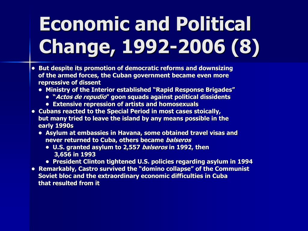 Economic and Political Change, 1992-2006 (8)