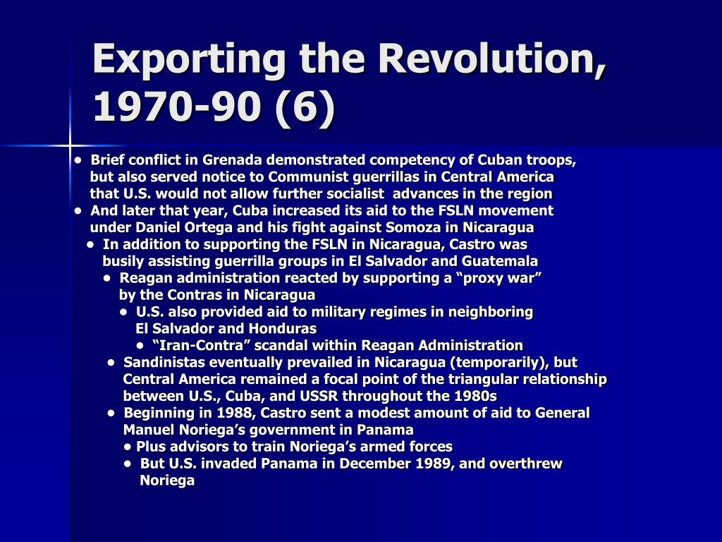 Exporting the Revolution, 1970-90 (6)