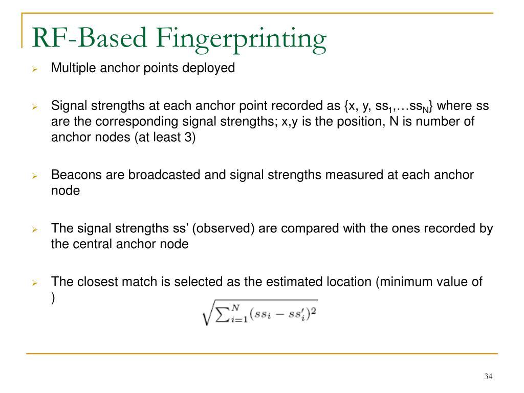 RF-Based Fingerprinting