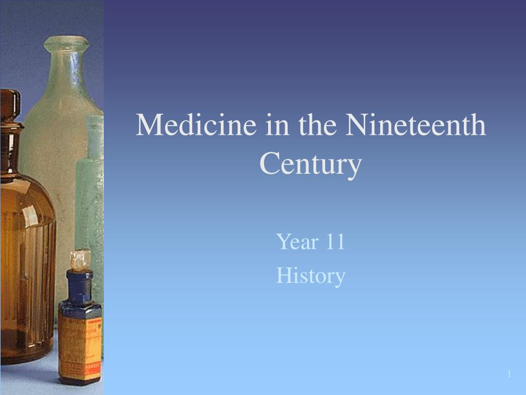 medicine in the nineteenth century l.