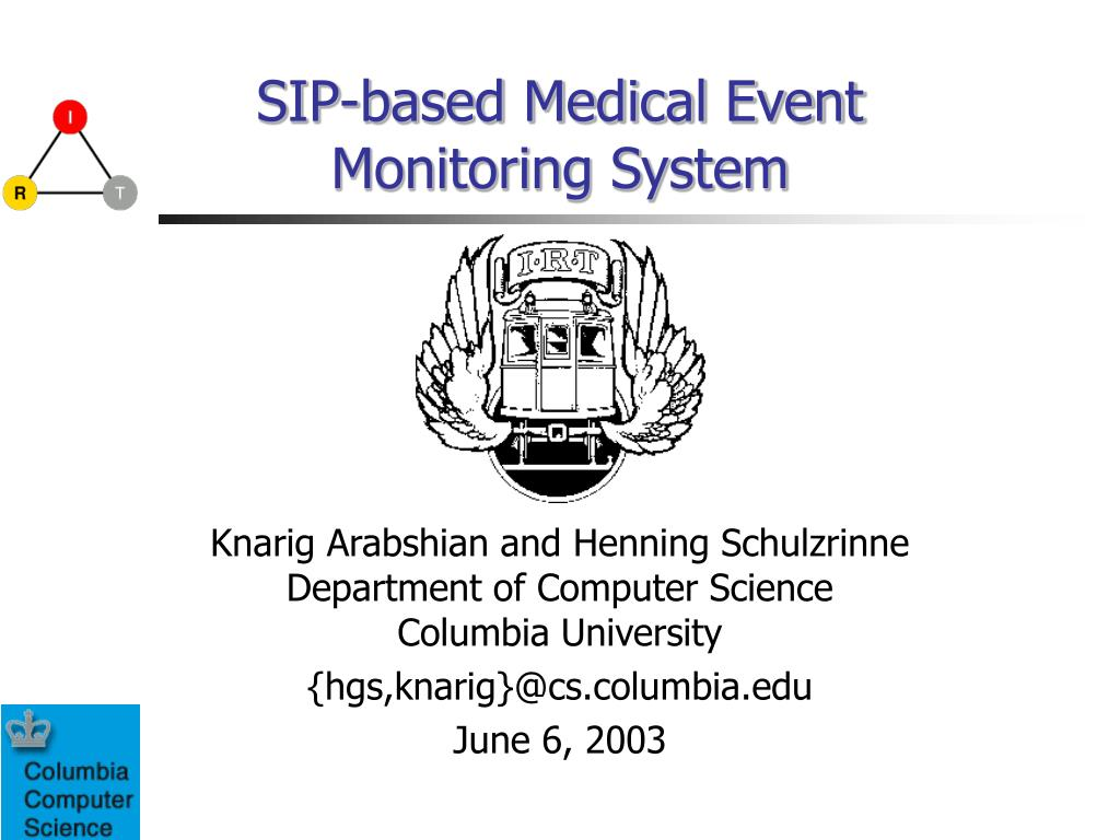 sip based medical event monitoring system l.