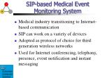 sip based medical event monitoring system3