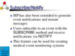 subscribe notify