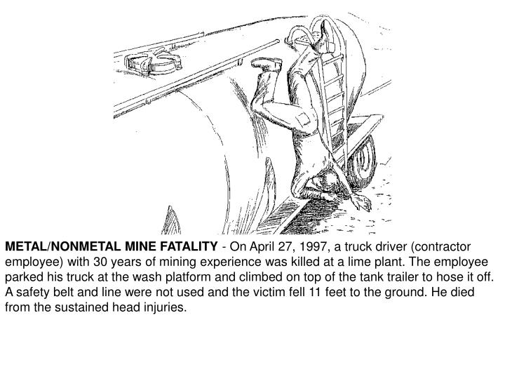 METAL/NONMETAL MINE FATALITY