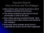 executive branch nine archons and ten strategoi