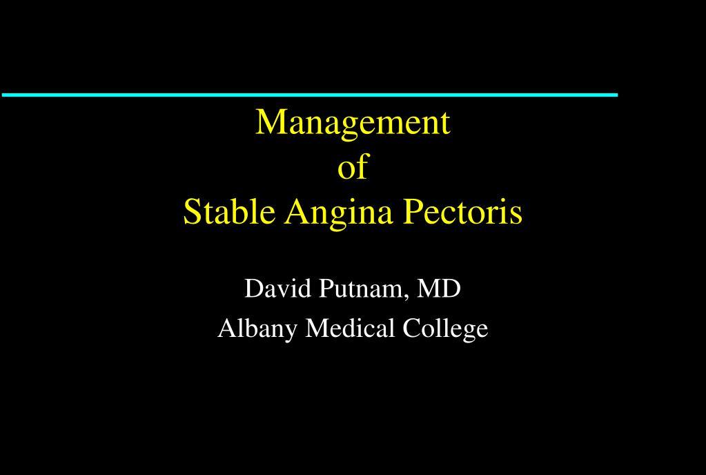 management of stable angina pectoris l.