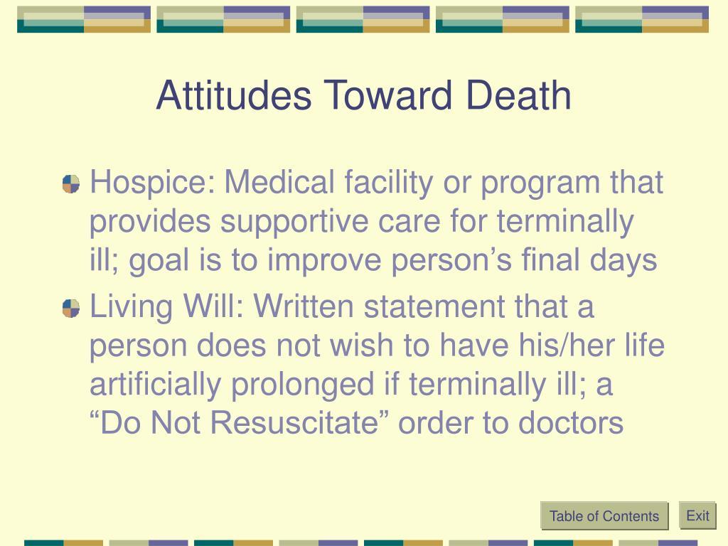 Attitudes Toward Death
