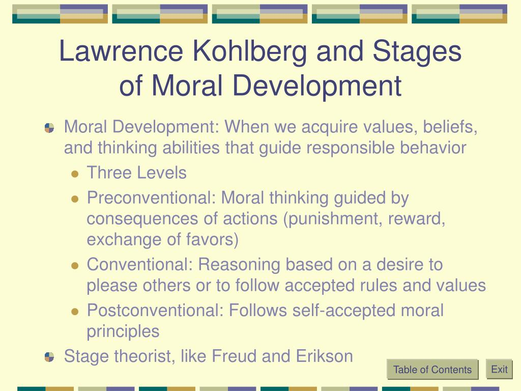 Lawrence Kohlberg and Stages of Moral Development