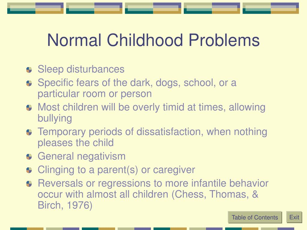 Normal Childhood Problems