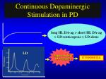 continuous dopaminergic stimulation in pd