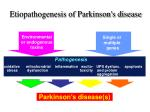 etiopathogenesis of parkinson s disease