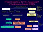 french guidelines for the management of parkinson s disease 2000