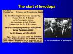 the start of levodopa