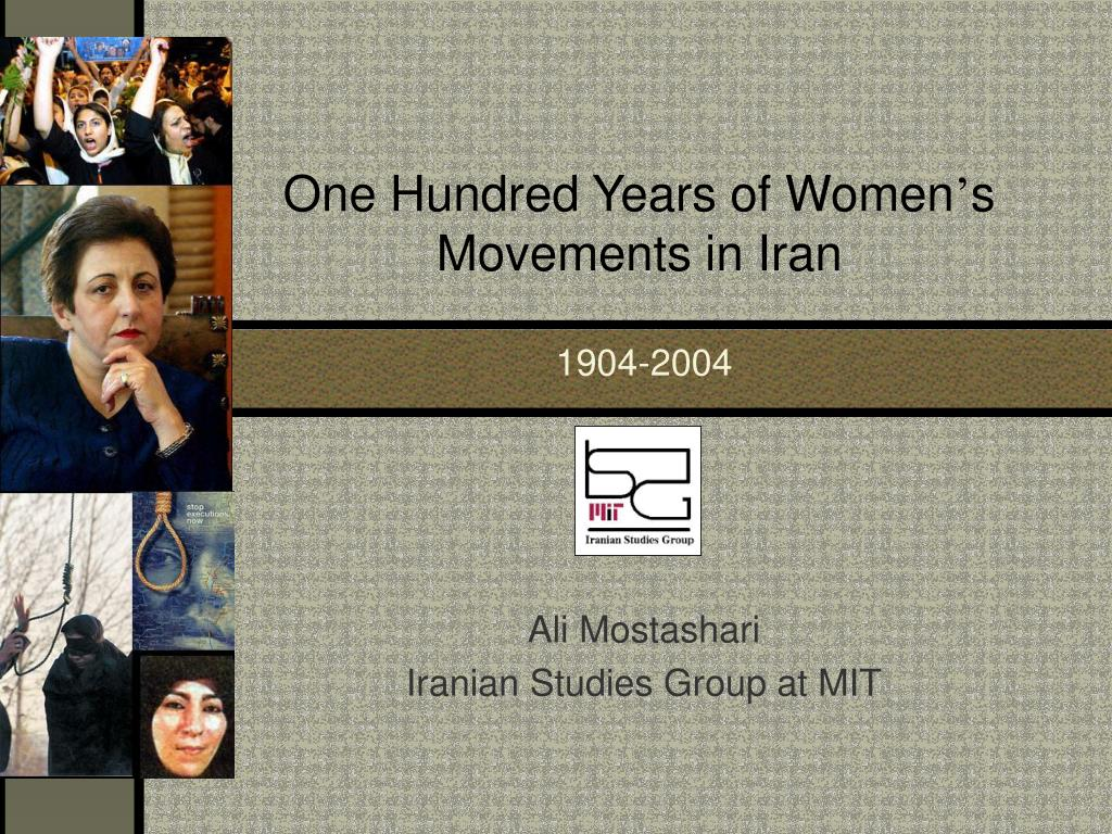 one hundred years of women s movements in iran l.