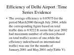 efficiency of delhi airport time series evidence